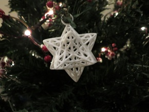 Christmas Bauble 2 in White Natural Versatile Plastic