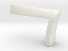 Papoose Shoulder Stock (Short) in White Natural Versatile Plastic