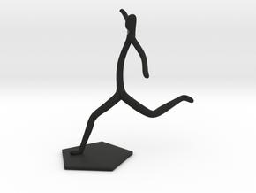 Soccer Statue in Black Natural Versatile Plastic