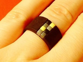 high 8-bit ring (US7/⌀17.3mm) in Black Strong & Flexible
