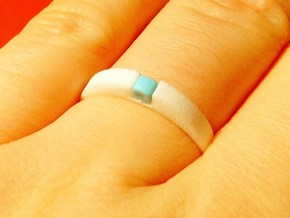 1-bit ring (US9/⌀18.9mm) in White Processed Versatile Plastic