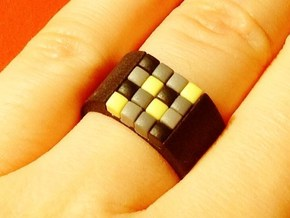 16-bit ring (US9/⌀18.9mm) in Black Natural Versatile Plastic