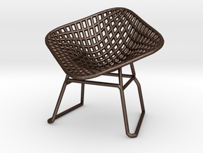 Diamond Wire Mesh Chair (1:24 Scale) in Matte Bronze Steel