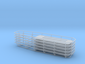 Tapered Stokes Basket set of 5(1/24 scale) in Smooth Fine Detail Plastic