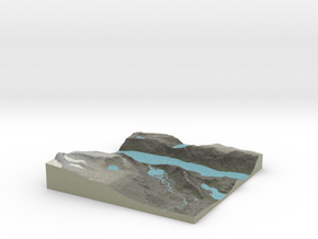 Terrafab generated model Mon Oct 13 2014 21:07:36  in Full Color Sandstone