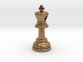 PENDANT :  CHESS KING (small - 35mm) in Natural Brass