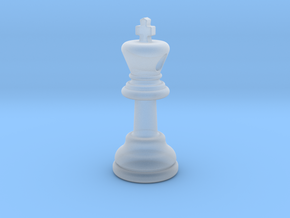 PENDANT :  CHESS KING (small - 35mm) in Smooth Fine Detail Plastic