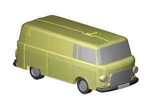 Barkas Kasten (Z, 1:220) in Smooth Fine Detail Plastic
