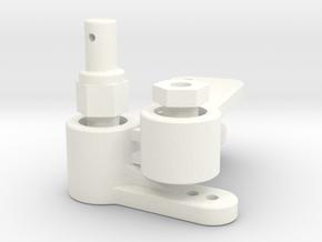 NIX91-Race Steering SLS in White Processed Versatile Plastic