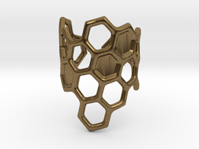 Honeycomb Ring in Natural Bronze
