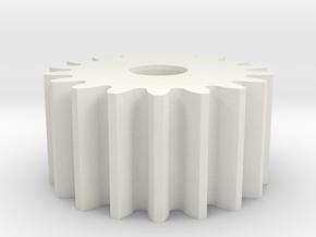 Spur Gear M1 Z18 in White Natural Versatile Plastic