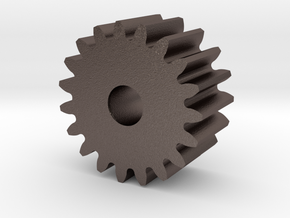 Spur Gear M1 Z19 in Polished Bronzed Silver Steel