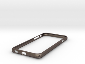 Bumper for iPhone6 4.7inch  in Polished Bronzed Silver Steel