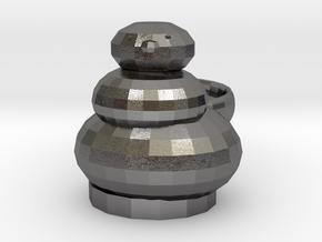 Open Sim Snowman  Ring in Polished Nickel Steel