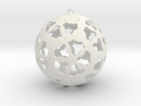 Steampunk Ornament in White Natural Versatile Plastic