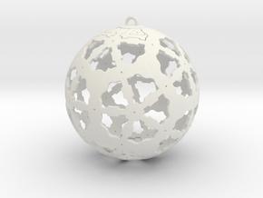 Steampunk Ornament in White Natural Versatile Plastic