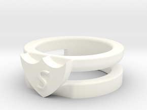 Ring in White Processed Versatile Plastic