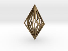 Diamond Pendant mk2 in Natural Bronze