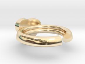 Hearts Ring 20x20mm inner diameter in 14K Yellow Gold