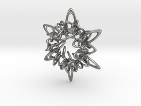Ring Flower 2 - 5.5cm in Natural Silver