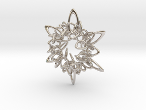 Ring Flower 2 - 5.5cm in Platinum