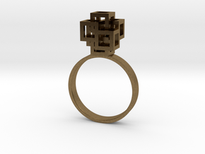 Quadro Ring - US 8 in Natural Bronze