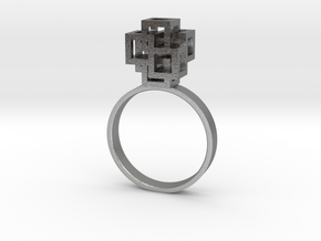 Quadro Ring - US 8 in Natural Silver