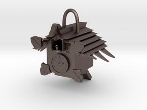 Cuckoo clock in Polished Bronzed Silver Steel