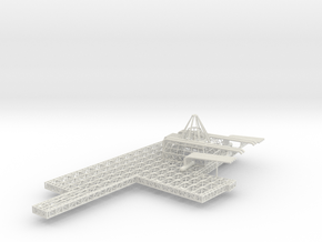 Stern Deck Upper Port V0.12 in White Strong & Flexible