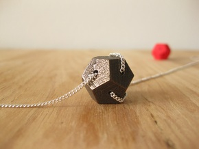Dodecahedron Tangled in Polished Bronze Steel