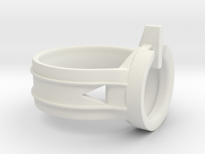 Power Ring Size 13 in White Natural Versatile Plastic
