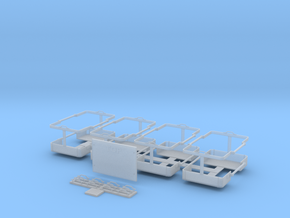 IDF M50/M51 Sherman/Tiran jerry-can rack set 1/16 in Smooth Fine Detail Plastic