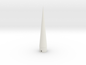 ASP Nose Cone BT50 scale in White Natural Versatile Plastic