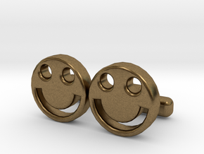 "Happy Face Cufflinks, Part of ""Fun Loving"" Collect in Natural Bronze"