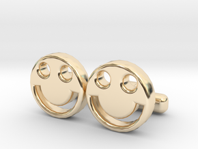 "Happy Face Cufflinks, Part of ""Fun Loving"" Collect in 14K Yellow Gold"