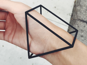 Triangle Bracelet - Large in Black Natural Versatile Plastic