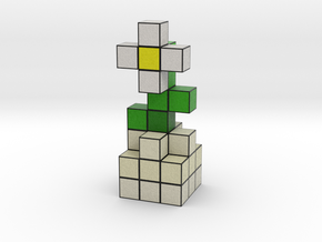 DAISY VOXEL FLOWER DECORATION in Full Color Sandstone
