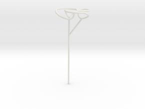 Trefoil bubble seifert wand in White Natural Versatile Plastic
