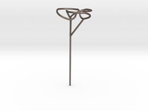 Trefoil bubble seifert wand in Polished Bronzed Silver Steel