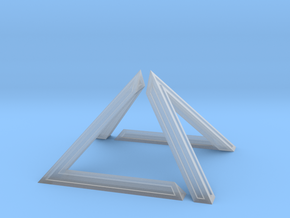 David Pyramid Thick - 6cm in Smooth Fine Detail Plastic