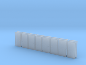 Metal Door in HO Scale - set of 16 in Smooth Fine Detail Plastic