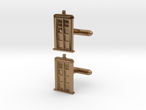 Doctor Who: TARDIS Cufflinks   in Natural Brass