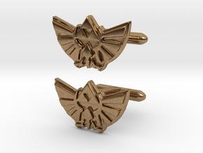 Legend of Zelda: Triforce Cufflinks in Natural Brass