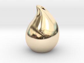 Droplet vase in 14K Yellow Gold