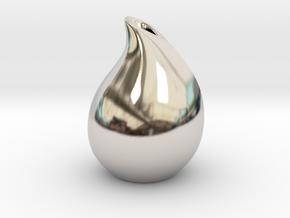Droplet vase in Platinum