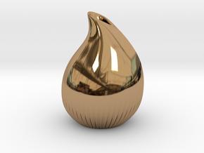Drop vase in Polished Brass