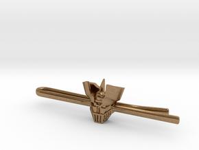 Mazinger Z Tie Clip in Natural Brass