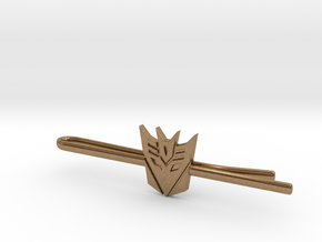 Transformers: Decepticons Tie Clip in Natural Brass