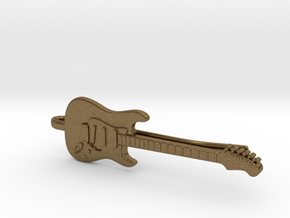 Guitar Tie Clip in Natural Bronze