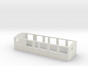 LB B 11-13 - Vognkasse 1/87 in White Natural Versatile Plastic